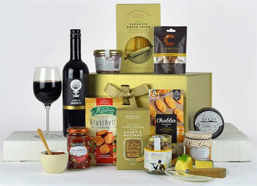 Luxury Red Wine and Cheese Hamper