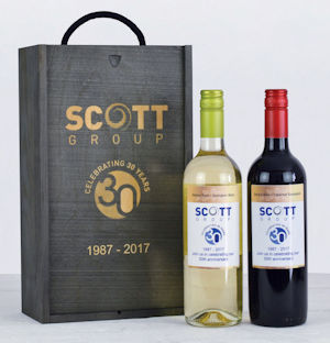 Personalised Festive Wine Duo