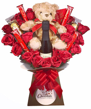 Prosecco, Choc and Teddy Bouquet