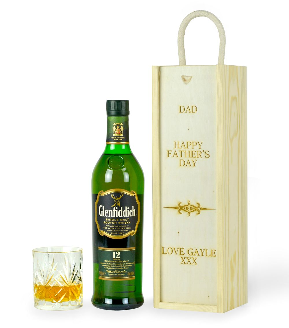 Glenfiddich Malt Whisky in a Personalised Box