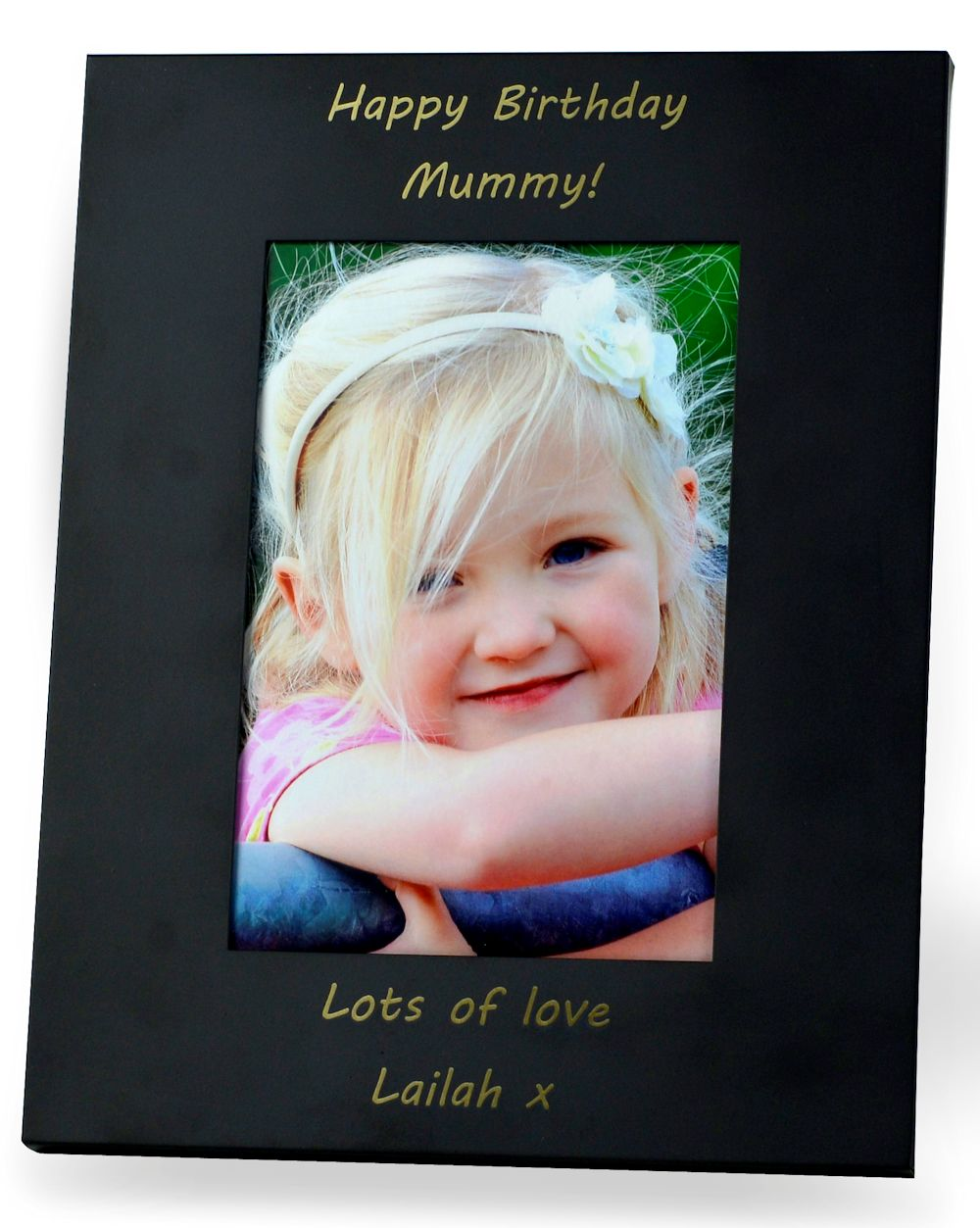 Personalised Ebony Photo Frame