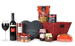 Personalised Slate Heart Hamper