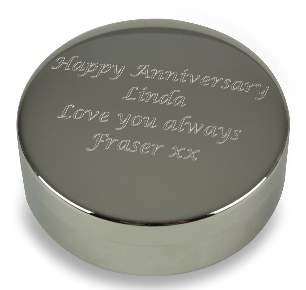 Personalised Silver Trinket Box