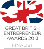 Great British entrepreneur awards 2013 finalist