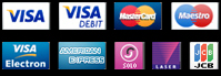 You can make purchases on our website with the following credit cards